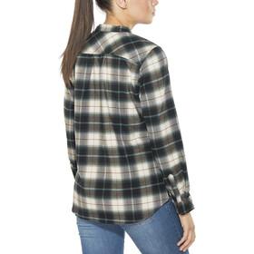 Royal Robbins Merinolux Plaid - Camiseta de manga larga Mujer - marrón/blanco